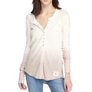 FREE PEOPLE henley ombre cozy up long sleeve